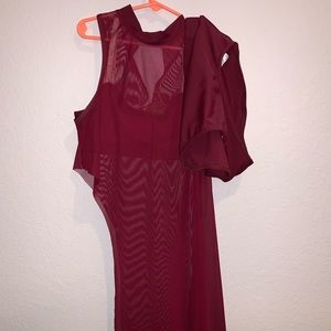 Contemporary asymmetrical overdress dance costume